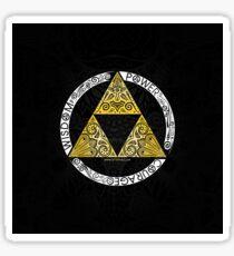 Zelda - Círculo de la Trifuerza Pegatina