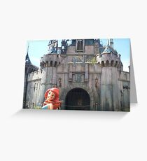 Banksy Dismaland Mermaid and Castle Greeting Card
