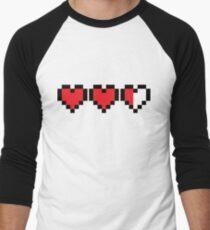 Zelda Heart Container Baseball ¾ Sleeve T-Shirt