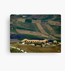 Agriculture Farms Canvas Print