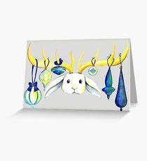 Ornamental Jackalope Card Greeting Card