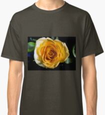 Backlit Yellow Rose Classic T-Shirt