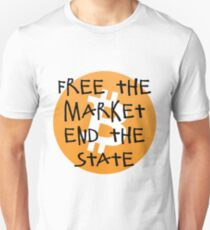 Bitcoin - Free the Market End the State Unisex T-Shirt