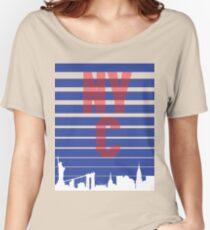 Camiseta ancha para mujer New York City