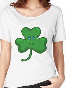 Happy Face Shamrock Clover Women's Relaxed Fit T-Shirt