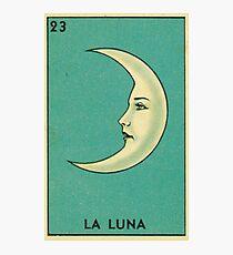 Tarot Card - La Luna - loteria - The moon Photographic Print