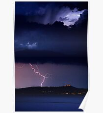 Zeus' Thunderbolts, Peloponnese, Greece Poster