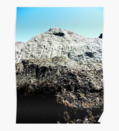 A Makeshift Mountain Of Rocks! Poster