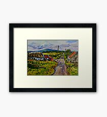 """Deserted Farm on the Magherabrack Road, County Tyrone."" Framed Print"