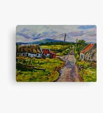 """Deserted Farm on the Magherabrack Road, County Tyrone."" Canvas Print"