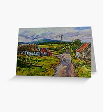"""""""Deserted Farm on the Magherabrack Road, County Tyrone."""" Greeting Card"""
