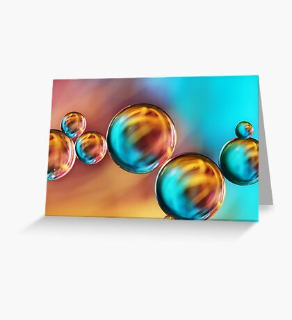Techno-coloured Bubble Abstract Greeting Card
