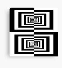 Black And White Geometric Rectangles Canvas Print