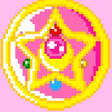 Pixel Sailor Moon Crystal Compact  by von-bats