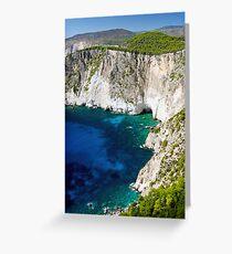 Cliffs at Keri, Zakynthos, Greece Greeting Card