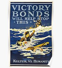 Victory Bonds will help stop this Kulture vs humanity Poster