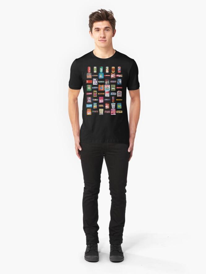 Alternate view of NDVH 80s Junk Food Slim Fit T-Shirt