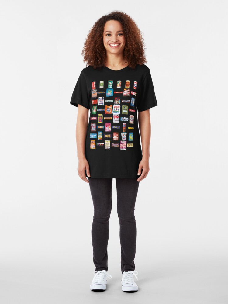 Alternate view of NDVH 80s Junk Food Slim Fit T-Shirt
