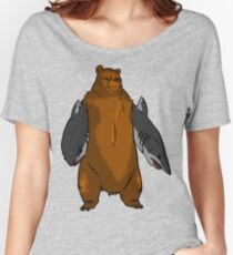 Bear with Shark Arms! - Large Women's Relaxed Fit T-Shirt