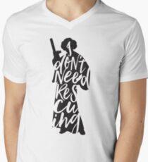 Don't Rescue Me Men's V-Neck T-Shirt