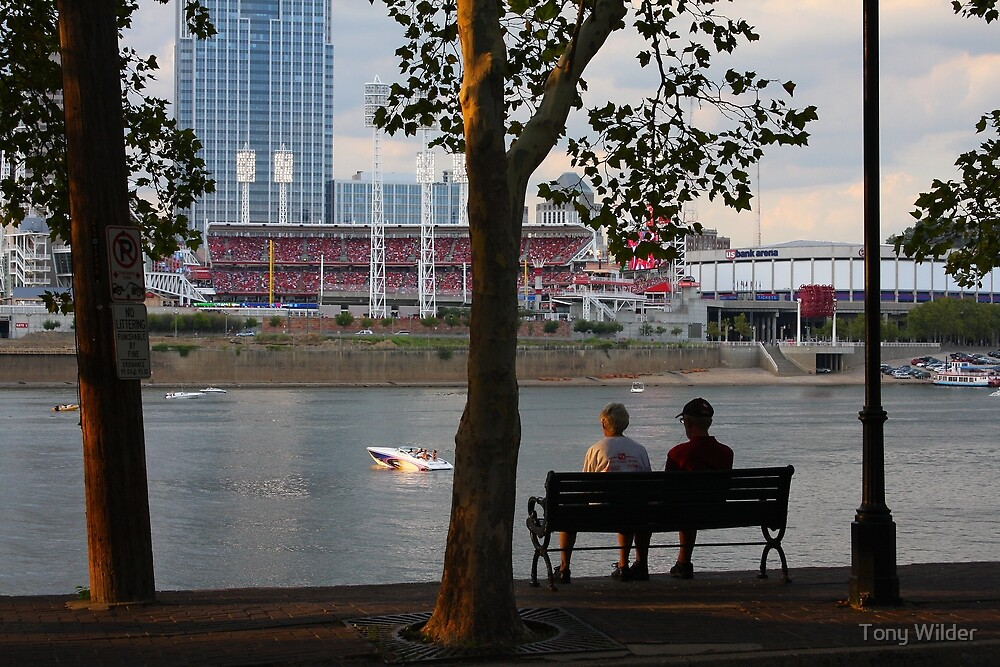 A Perfect Evening Out - Covington Kentucky by Tony Wilder
