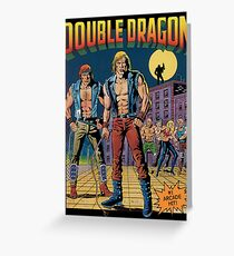 Double Dragon Greeting Card