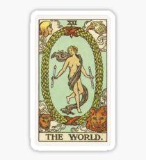 Tarot Card - The World Sticker