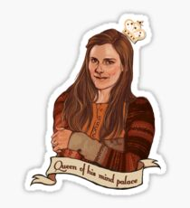 Molly Hooper: Queen of his mind palace Sticker