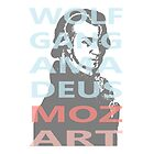 Wolfgang Amadeus Mozart by cesarpadilla