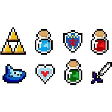 Zelda Items by von-bats