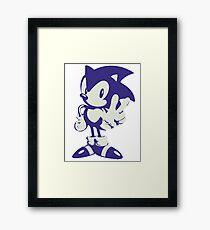 Minimalist Sonic Framed Print