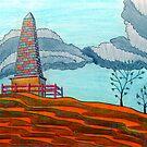 366 - THE OBELISK - DAVE EDWARDS - COLOURED PENCILS - 2012 by BLYTHART