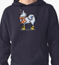 Samoyed / American Eskimo Dog Celebrate Winter Pullover Hoodie