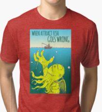 Attract Fish (3) Tri-blend T-Shirt