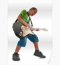 R'n'R kid with a guitar Poster