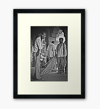 So Much Uncertainty Framed Print