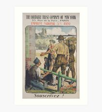 The Equitable Trust Company of New York Emprunt National 5 920 Souscrivez! Art Print