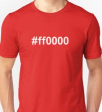 #A50F20 red Unisex T-Shirt