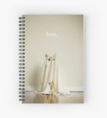 Ghost Cat Spiral Notebook