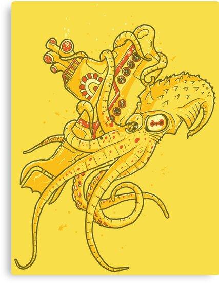 yellow Kracken by Jonah Block