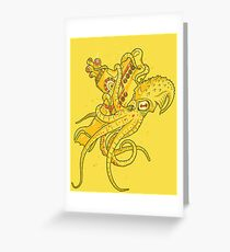 yellow Kracken Greeting Card