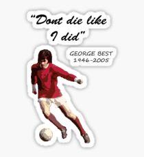 George Best Sticker