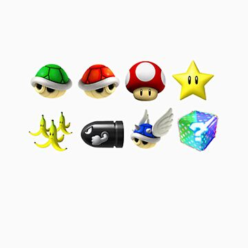 Mario Kart Power-Ups by mollsssss