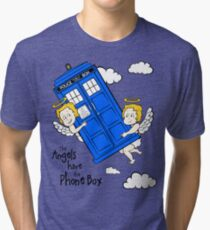 The Angels have the Phone Box - Version 2 (for light tees) Tri-blend T-Shirt