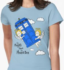 The Angels have the Phone Box - Version 2 (for light tees) Women's Fitted T-Shirt