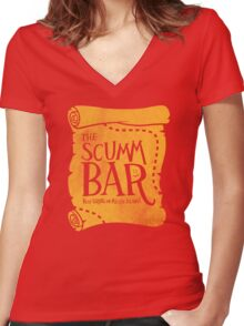 THE SCUMM BAR Women's Fitted V-Neck T-Shirt