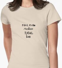 Real Lies  Women's Fitted T-Shirt