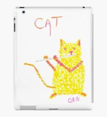 Yellow Cat Playing Flute iPad Case/Skin