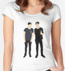 Dan and Phil Silhouettes Women's Fitted Scoop T-Shirt