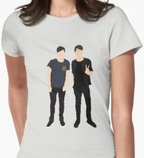 Dan and Phil Silhouettes Women's Fitted T-Shirt